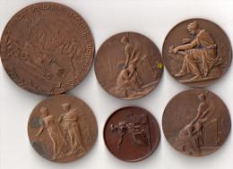 1 Lot De 6 Medailles En Bronze Un Cadeau - Tokens & Medals
