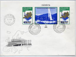 HUNGARY 1974 European Security Conference Block On FDC.  Michel Block 103A - FDC