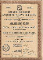 RUSSIE / RUSSIA / SOCIETE DES CHARBONNAGES DE L´OUEST - DONETZ 1913 - Russia