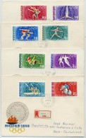 HUNGARY 1968 Mexico Olympic Games Set Of 4 FDCs.  Michel  2434-41 - FDC