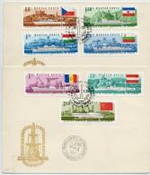 HUNGARY 1967 Danube Commission Set On 2  FDCs.  Michel  2323-29 - FDC