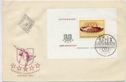 HUNGARY 1965 Universiade Games Block On FDC   Michel  Block 50 - FDC