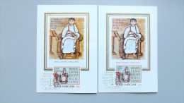 Vatikan 783/4 Un 688/9 YT 706/7 Maximumkarte MK/MC, ESST, Vergil (70-19 V. Chr.), Römischer Dichter - Cartes-Maximum (CM)