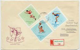 HUNGARY 1965 Universiade Games Set On  3  FDCs.  Michel  2153-61 - FDC