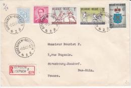 BELGIUM REGISTERED COVER 1963 COB 1246/48 GILDE GANTOISE DES ESCRIMEURS SAINT-MICHEL - Belgique