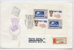 HUNGARY 1965 WIPA Exhibition Block On FDC.    Michel  Block 57A - FDC