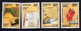 Sénégal N° 807 / 10  XX  75ème Anniversaire Des Archives Du Sénégal, Les 4 Valeurs Sans Charnière, TB - Senegal (1960-...)