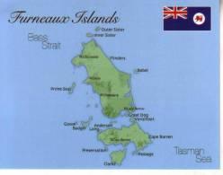 1 X Map & Flag - Carte Géographique Et Drapeau - Furneaux Islands - Maps