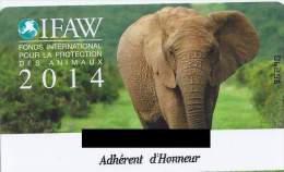 Carte Adhérent D'honneur IFAW 2014. (Voir Commentaires) - Briefmarken