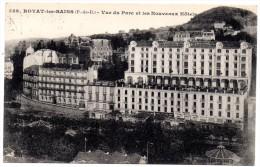 CP, 63, ROYAT-les-BAINS, Vue Du Parc Et Les Nouveaux Hôtels, Voyagé En 1924 - Royat