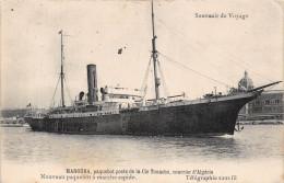 """¤¤  -  Paquebot Poste De La Compagnie TOUACHE """" MANOUBA """" Courrier D'Algérie  -  Télégraphie Sans Fil   -  ¤¤ - Dampfer"""