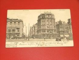 LIEGE   -   Rue De Bexhe  Et Rue Léopold  -    1906 -      (2 Scans) - Liege