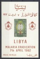 Libya - 1962 Malaria Block (2) MNH__(TH-7456) - Libya