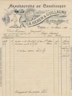 Paris, Manufacture De Chaussures A. Heren & Guillaume 1910 - Textile & Vestimentaire
