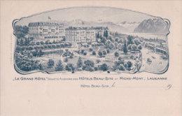 Lausanne, Hôtels Beau-Site Et Riche-Mont (2930) - VD Vaud