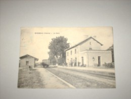CPA CP Cpsm 86 VIENNE 1926 MIREBEAU  LA GARE ANIME GP Ed M. CONVRAT B/TBE Thème Train Chemin De Fer Cdf - Mirebeau