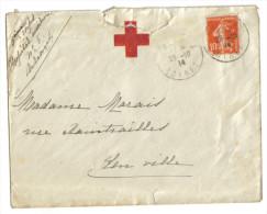 Lettre Croix Rouge Orléans 1914 - Poststempel (Briefe)