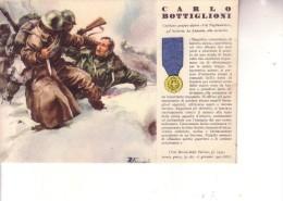 """2a Guerra -- ALPINI -- Med. Oro CARLO BOTTIGLIONI Da Apuania--Gruppo Alpini """"""""VAL TAGLIAMENTO"""""""" - Weltkrieg 1939-45"""
