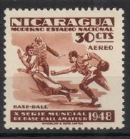 Nicaragua 1949 - Baseball MNH ** - Nicaragua