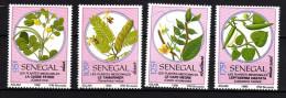 Sénégal N° 877 / 80  XX   Flore : Plantes Médicinales, Les 4 Valeurs Sans Charnière, TB - Senegal (1960-...)