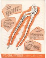 PUBLICITE PINCE MULTIPLE VANESCO Ets PAUL ESCOFFIER à SAINT ETIENNE (LOIRE) 1959 - Publicidad