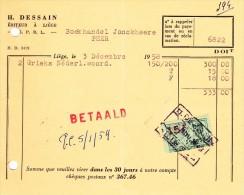 LIEGE  H. DESSAIN EDITEUR. 7. Rue Trappé - Printing & Stationeries