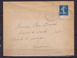 FRANCE LETTRE AVEC N° 140 25C BLEU TYPE IV  A DESTINATION DE LA FRANCE - France