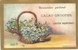 1 Chromo Cacao Chokolade Chocolat   -  D. & M. GROOTES Rond 1880 à 1890 Tresling & Hof Lithografie - Chocolade