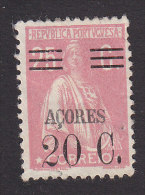 Azores, Scott #305, Mint No Gum. Ceres Surcharged, Issued 1929 - Azores