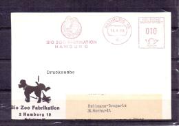 Deutsche Bundespost - Bio Zoo Fabrikation Hamburg 14/4/1969  (RM4680) - Papageien
