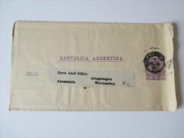 Argentinien 1891 Streifband Nach Alemania Göppingen Württemberg - Argentinien