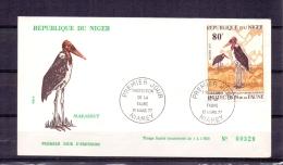 Rép. Du Niger - Protection De La Faune - Marabout -  Premier Jour - Niamey 18/3/77  (RM4970) - Oiseaux