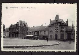 Philippeville - Belgique - La Poste Et La Banque Nationale - Commerce - Voitures Anciennes - Belgique