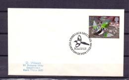 Great Britain - Magpie - Goodluck Greetings  - Yelverton Devon 5/2/1991   (RM5225) - Oiseaux