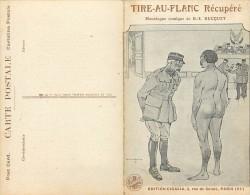 Guerre 1914-18 - Ref K162- Carte Deux Volets -illustrateur De La Jarrige- Tir Au Flanc Récupéré-monologue De R E Bucquet - Guerre 1914-18