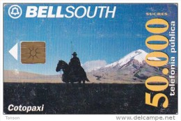Ecuador, ECU-BS-005A, Cotopaxi Volcano, Horse, 2 Scans.   Chip : GEM1