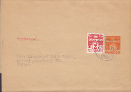 Denmark Uprated Postal Stationery Ganzsache Entier Streifband Wrapper DANSK GYMNASTIK FORBUND 6 Øre Tryksager (2 Scans) - Ganzsachen