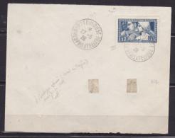 FRANCE LETTRE AVEC N° 252 1F50 + 8F50 BLEU LE TRAVAIL TYPE III OBL CONGRES PHILATELIQUE DE TOULOUSE DU 27.5.1928 - France