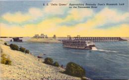 """Delta Queen"" Approaching Kentucky Dam´s Mammoth Lock On The Tennessee River - Etats-Unis"