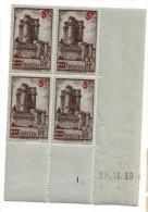 1939 - Coin Daté Neuf ** - N°491 Vincennes - Côte 18euros - 1930-1939