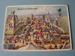 == München Oktoberfest Karte Lengauer Ca, 1950 Kl. Mängel Bug Ecke - München