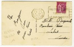 """FLIERS - """" PAU R.P. / BASSES-PYRENEES / 1935 """" + """" PAU TOUS SPORTS / TOURISME / SEJOUR DE ... """" - Sur YT 281 - N° PAU141 - Marcofilie (Brieven)"""