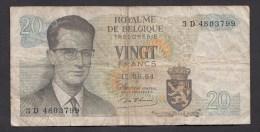 België Belgique Belgium 15 06 1964 20 Francs Atomium Baudouin. 3 D 4803799 - [ 6] Schatzamt