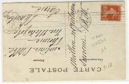 "KRAG - "" PARIS-5 / Av DE LA REPUBLIQUE / 1913 ""  - Sur YT 138  - N° B005201 - Poststempel (Briefe)"
