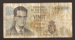 België Belgique Belgium 15 06 1964 20 Francs Atomium Baudouin. 3 D 6113787 - [ 6] Treasury