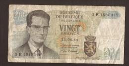 België Belgique Belgium 15 06 1964 20 Francs Atomium Baudouin. 3 E 1585349 - [ 6] Treasury