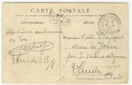 """Bureau Ambulant Des Gares  -  T84  -  """" ENTREPOT DE LOURDES / Htes PYRENEES / 1907 """" -  Sur YT 111 - Railway Post"""