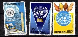 Sénégal N° 712 / 14 XX  40ème Anniversaire De L´Organisation Des Nations Unies Les 3 Valeurs Sans Charnière, TB - Senegal (1960-...)