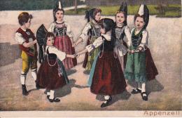 AK Appenzell - Kinder In Tracht - Reliefkarte! RRR! (5643) - Trachten