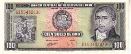 Perù 102  100 Soles 1974 Unc - Pérou
